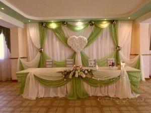 Оформление стен для свадьбы фото