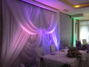 Оформление стен для свадьбы красиво