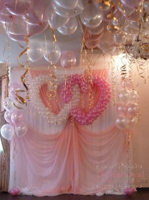 Декор стен на свадьбу фото