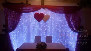Украшение президиума на свадьбу недорого