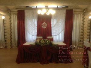 Декор президиума для свадеб красиво
