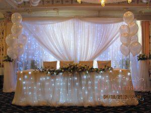 Декор президиума для свадьбы в Москве