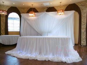 Декор президиума для свадеб в Москве