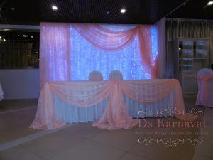 Декор президиума для свадьбы фото и цены