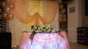Украшение президиума для свадьбы в Москве