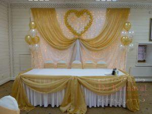 Декор президиума для свадьбы дешево