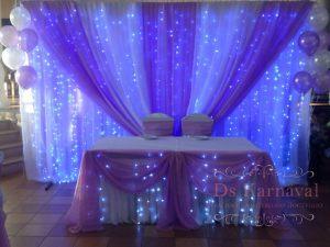 Декор президиума для свадьбы фото