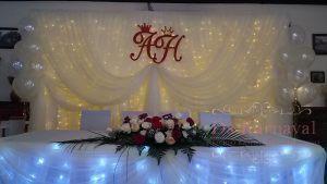 Декор президиума для свадьбы оригинально