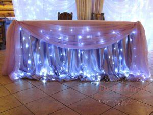 Оформление стола молодых тканью на свадьбу дешево