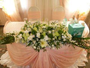 Оформление стола молодых тканью для свадьбы фото и цены