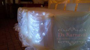 Оформление стола молодых тканью для свадеб недорого цены
