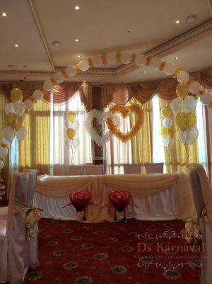 Декор на свадьбу шарами фото