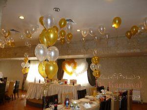 Декор свадьбы шарами фото