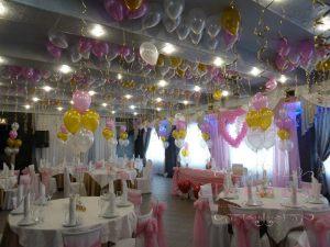 Украшение на свадьбу шарами дешево