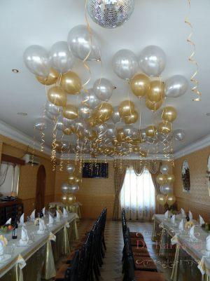 Декор свадеб шарами фото